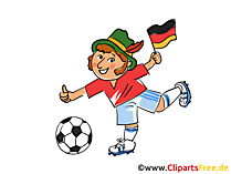 Soccer in Bavaria Clipart Obraz