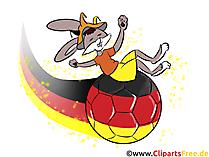 Fussball in Farben Deutscher Fahne Bild, Clipart, Cartoon