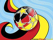 Fußball mit einem Grunge-Flagge von Deutschland Bild, Clipart, Illustration