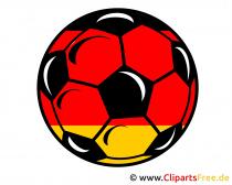 Fussball Schwarz-Rot-Gold