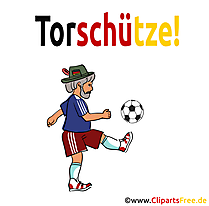 Fussball Training Clipart-Bild