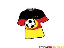 Fußball Trikot Bild, Clipart, Grafik