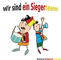 Fußballfans Deutschland Cliparts, Bilder, Comicfiguren