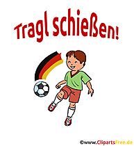 Fussballspruch Tragl schießen - Clipart-Bilder