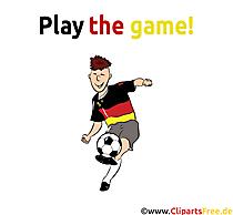 Fussballtrick Bild-Clipart - Fußball Bilder zum Ausdrucken