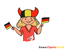 Girl Germany sport fan clip art free