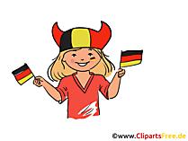 Girl Germany sport fan clip art free