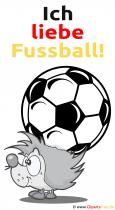 Ich liebe Fussball Karte