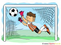 Illustration für Kinderbuch - Fussball, Torwart, Kid