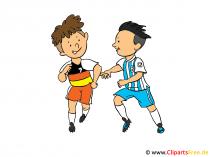 Kinder Fussball Clipart, Illustration, Bild