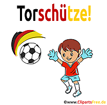 Kinderfussball Cartoon Illustration