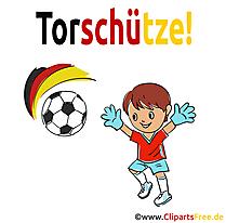 Kinderfussball Cartoon Illustration