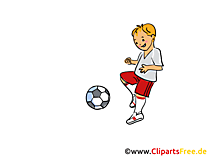 Kinderfussball Clipart, Cartoon, Bild, Grafik
