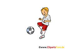 Kinderfussball Clipart, Cartoon, Bild, Grafik