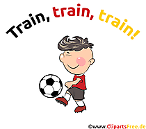 Kinderfussball Illustration, Cartoon, Clipart, Bild, Grafik