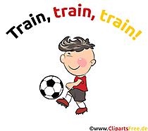 Kinderfussball Illustration, Cartoon, Clipart, Bild, Grafik
