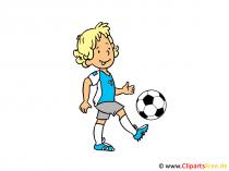 Mädchen spielt Fussball Clipart, Bild, Cartoon, Comic