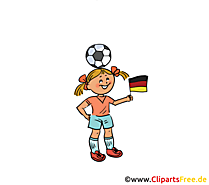 Mädchenfussball Bild-Clipart
