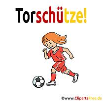 Mädchenfussball Clipart Bild kostenlos