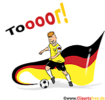 Nationalflagge Deutschland Fussball Cliparts, Bilder, Cartoons
