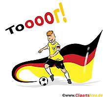 Nationalflagge Deutschland Fussball Cliparts, Bilder, Cartoons