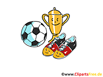Cup, Ball, Football Boots Clipart