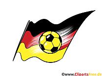 Schwarz-Rot-Gold Fussball Clipart