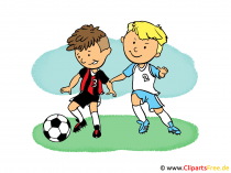 Soccer Cartoon Children playing Soccer