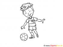 Soccer Colouring Sheet