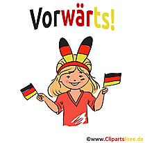 Sportfans Deutschland Clipart