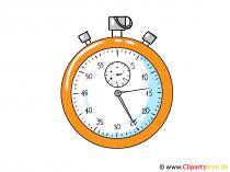 Stoppuhr Clipart, Bild, Illustration