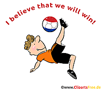 I believe that we will win - Fussball Clipart