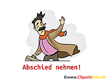 Afscheid collega-kaart, illustraties, foto, tekenfilm