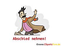 Abschied Kollege Karte, Clipart, Bild, Cartoon