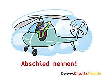 Abschied nehmen Clipart, Bild, Cartoon