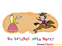 Schluß machen Karte, Clipart, Cartoon gratis