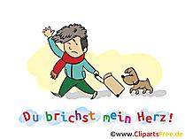 Worte zum Abschied eines Kollegen Karte, Clipart, Cartoon