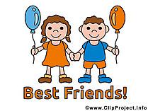 Beste Freunde Sprueche und GB-Bilder