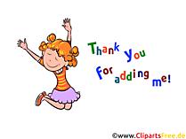 Thank you for adding me - Bilder für WhatsApp, Facebook, Instagram und andere soziale Netzwerke