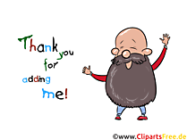 Thank you for adding me - Pics for Facebook, WhatsApp and other social networks