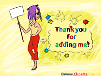 Thanks for adding me Pics, Images, Cartoons for social networks