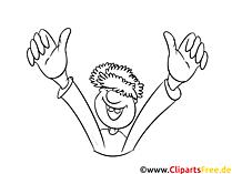 Beide Hände hoch Clipart-Grafik