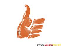 Clipart-Bild Daumen nach Oben