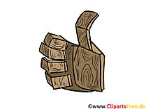 Piktogramm Daumen hoch