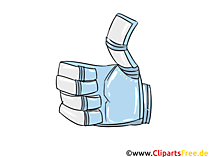 Roboter Hand Daumen hoch Clipart-Bild