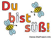 Süße Biene Bild, Clipart