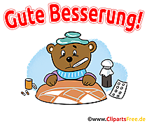 Gute Besserung Cliparts, GB Bilder,  Illustrationen