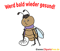 Gute Genesung Karte, Clipart, Cartoon, Illustration