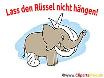 Ruessel izin vermeyin - Genesungswuensche tebrik kartı