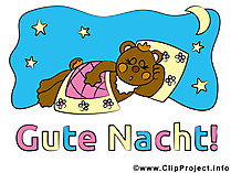 Ein kleiner Bär sagt Gute Nacht